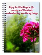 The Little Things Spiral Notebook