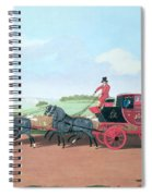 The Liverpool And London Royal Mail Coach, 1812 Oil On Canvas Spiral Notebook