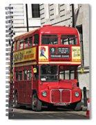Vintage London Bus Spiral Notebook