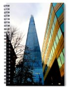 The London Shard In Blue No2 Spiral Notebook