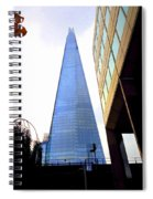 The London Shard In Blue No4 Spiral Notebook