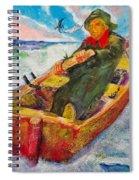 The Lone Boatman Spiral Notebook