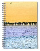 The Long Pier - Art By Sharon Cummings Spiral Notebook