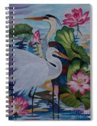 The Lotus Pond Hand Embroidery Spiral Notebook
