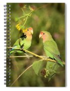 The Lovebirds  Spiral Notebook