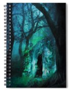 The Lovers Cottage By Night Spiral Notebook
