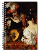 The Lute Player Spiral Notebook