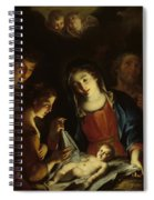 The Madonna Adoring The Infant Christ Spiral Notebook