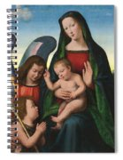 The Madonna And Child With The Young Saint John The Baptist And An Angel  Spiral Notebook