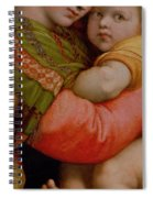The Madonna Of The Chair Spiral Notebook