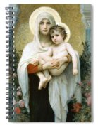 The Madonna Of The Roses Spiral Notebook