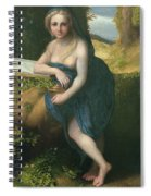 The Magdalene, C.1518-19 Oil On Canvas Spiral Notebook