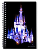 The Magic Kingdom Castle In Blue And Purple Walt Disney World Fl Spiral Notebook