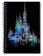 The Magic Kingdom Castle In Frosty Dark Blue Walt Disney World Spiral Notebook