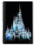 The Magic Kingdom Castle In Frosty Light Blue Walt Disney World Spiral Notebook