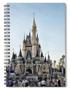 The Magic Kingdom Castle On A Beautiful Summer Day Spiral Notebook