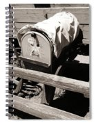 The Mailbox And The Wagon Spiral Notebook