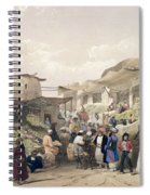 The Main Street In The Bazaar Spiral Notebook