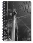 The Mainmast Of The Amazing Grace In Infrared Spiral Notebook