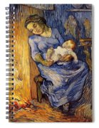 The Man Is At Sea - After Demont-breton Spiral Notebook