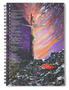 The Man On The Cross With Poem Spiral Notebook
