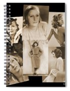 The Many Faces Of Greta Garbo Spiral Notebook