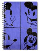 The Many Faces Of Mickey Spiral Notebook