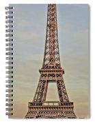 The Many Faces Of The Eiffel Tower In Paris France Spiral Notebook