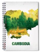 The Map Of Cambodia 2 Spiral Notebook