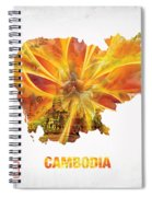 The Map Of Cambodia Spiral Notebook