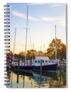 The Marina At St Michael's Maryland Spiral Notebook