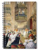 The Marriage At St Georges Chapel Spiral Notebook