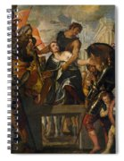 The Martyrdom Of Saint Mena Spiral Notebook