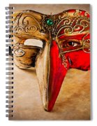The Mask On The Floor Spiral Notebook