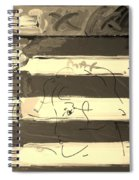 The Max Face In Sepia Spiral Notebook