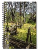 The Meadow Fence Spiral Notebook
