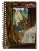 The Meeting Of Antony And Cleopatra  41 Bc Spiral Notebook