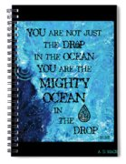 The Mighty Celtic Ocean Spiral Notebook