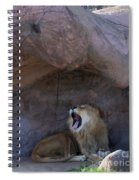 The Mighty King Roars Spiral Notebook