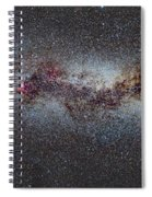 The Milky Way From Scorpio And Antares To Perseus Spiral Notebook