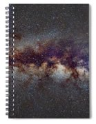 The Milky Way From Scorpio Antares And Sagitarius To Scutum And Cygnus Spiral Notebook