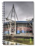 The Millennium Stadium With Flag Spiral Notebook