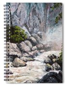 The Mist At Bridalveil Falls Spiral Notebook