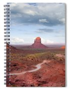 The Mittens And Merrick Butte At Sunset Spiral Notebook