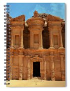 The Monastery At Petra Spiral Notebook