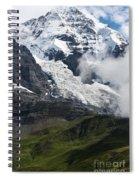 The Monk - Swiss Bernese Alps Spiral Notebook