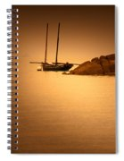 The Mont Saint-michel Bay At Sunset Spiral Notebook