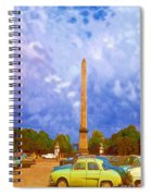 The Monument's Parking Lot Digital Art By Cathy Anderson Spiral Notebook