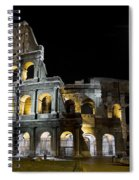 The Moon Above The Colosseum No1 Spiral Notebook