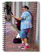 The Music Man And His Red Shoes Spiral Notebook